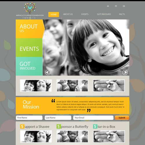 Please Help! Website Design for Miracle Players Foundation Charity