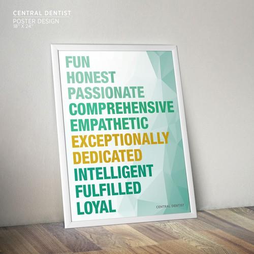 Minimalist Poster Design for Central Dentist