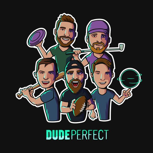 "Stickers ""Dude Perfect"""
