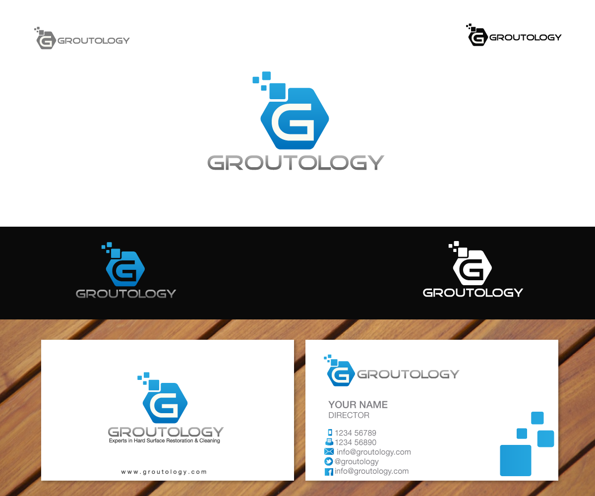 Groutology needs a new logo and business card
