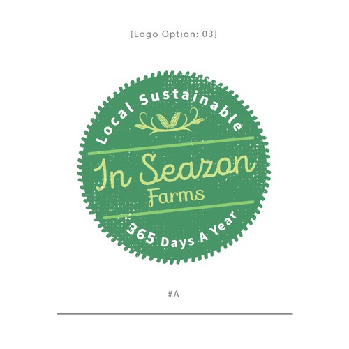 Logo badge design for the InSeazon Farms