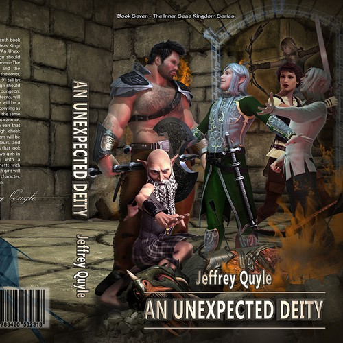 "Ingenairii Press Book Cover for ""An Unexpected Deity"" fantasy novel"