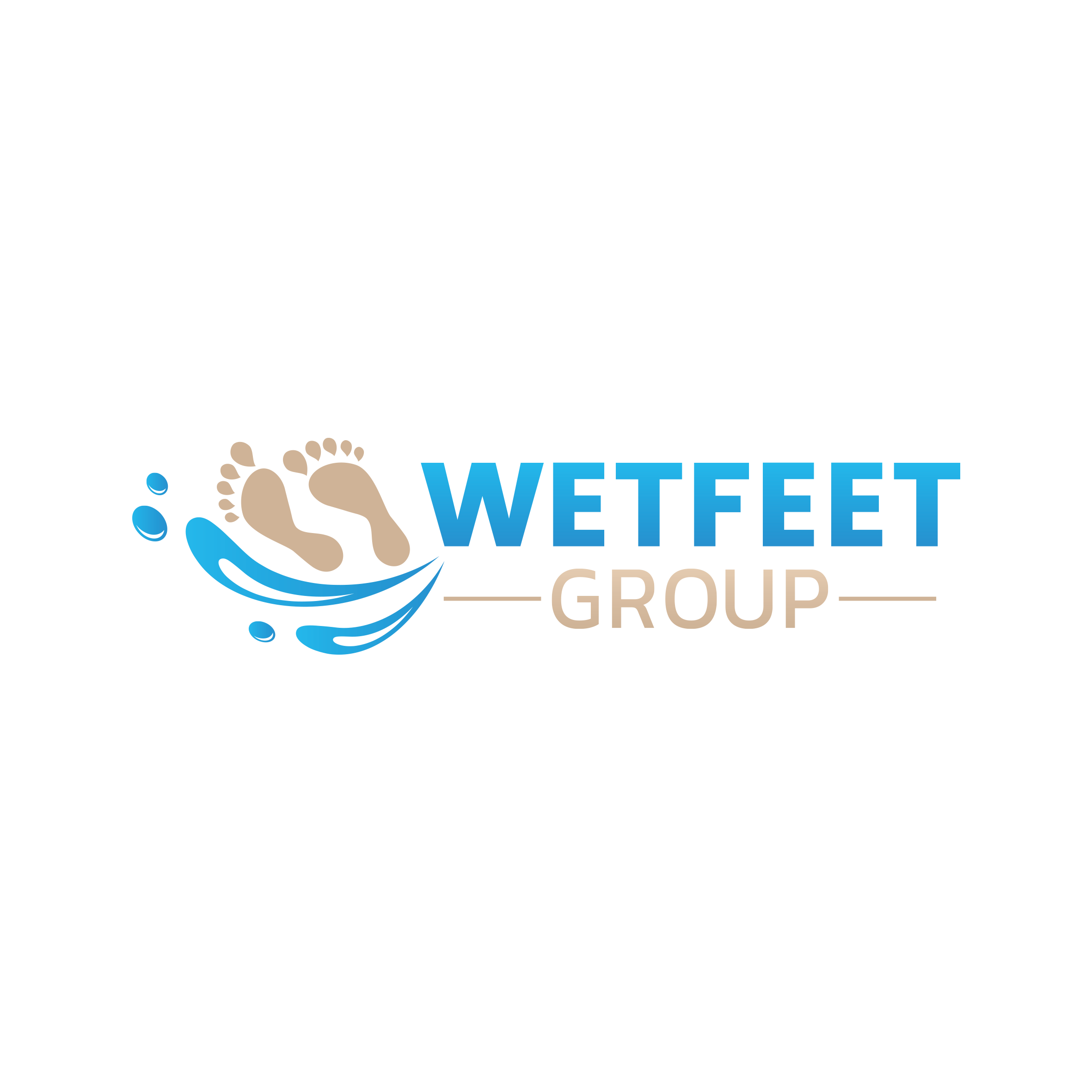 Design a footprints on the beach inspired logo for WETFEET Group