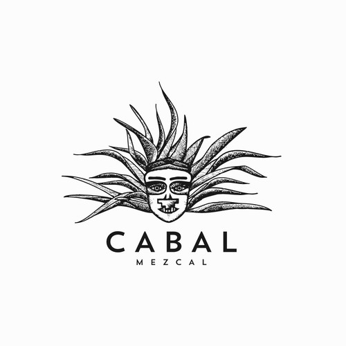 Illustrative logo design for tequila & mezcal