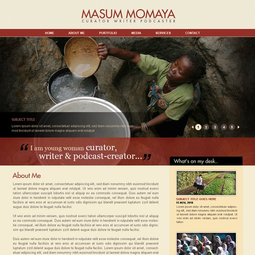 Design for a Cause: Global Women's Rights website