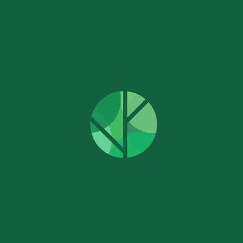organic logo design concept