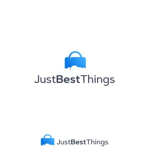 Trendy logo for online store.