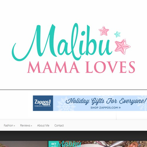 Capture the attention of many with an alluring logo for Malibu Mama Loves