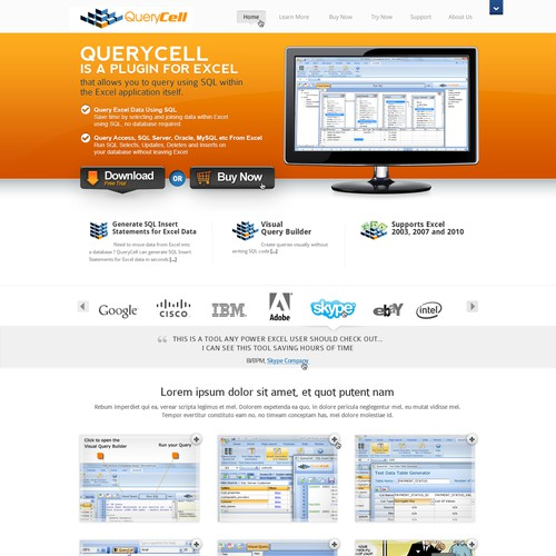 QueryCell new website design