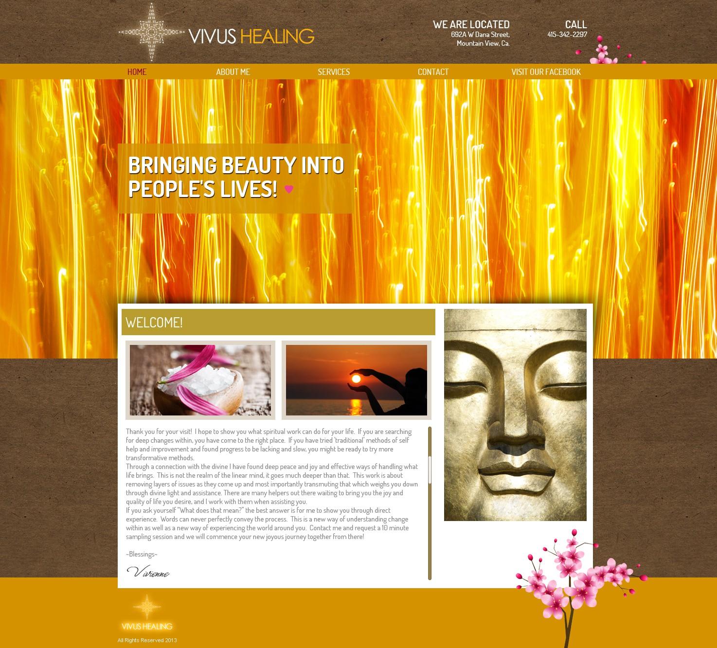 New website design wanted for Vivus Healing