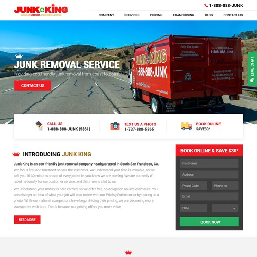Junk removal website