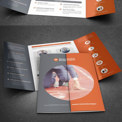 Create a edgy (non-corporate) company brochure.