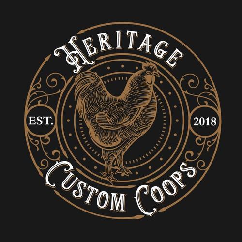vintage chicken coops logo