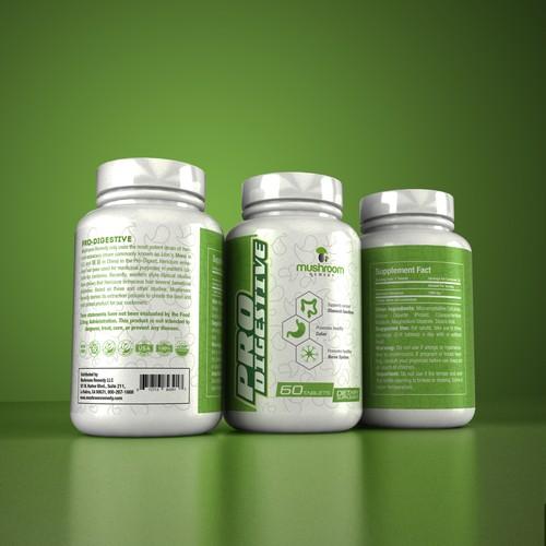 Pro Digestive Label Design