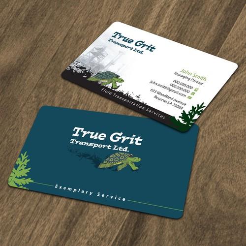 Business card for True Grit Transport Ltd.