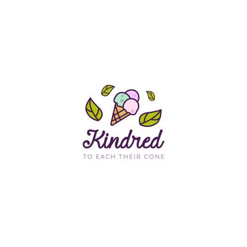 Logo design for vegan ice cream
