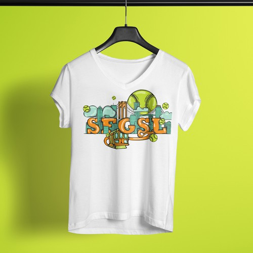 Illustrated T-Shirt Design for SFGSL