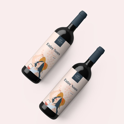 Entre Nous Wine Label Concept