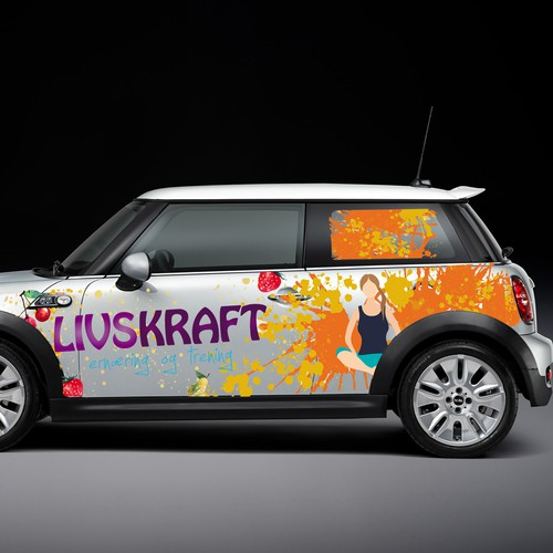 Mini car wrap - all over! Make yourself go nuts :)