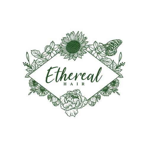 Logo for Ethereal Hair Salon.
