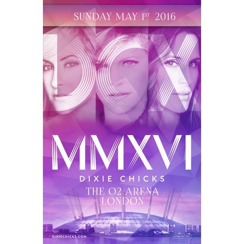 Poster Design for Dixie Chicks tour