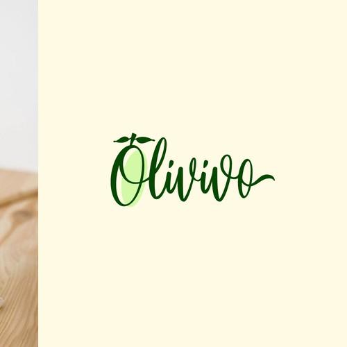 olvivo lettering logo design