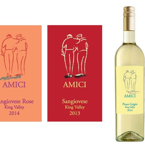 Design a wine label for a range Italian varietals