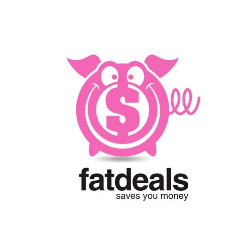fat deals logo concept