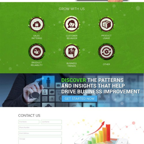 Create landing page for new Data Analytics group