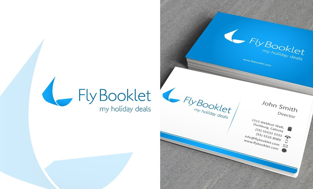 Create the next logo for Fly Booklet