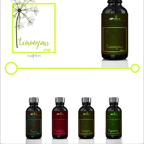 Label design - Essential Oils Brand