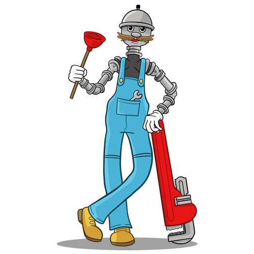 Illustrated Mascot For A Plumbing & Heating Company