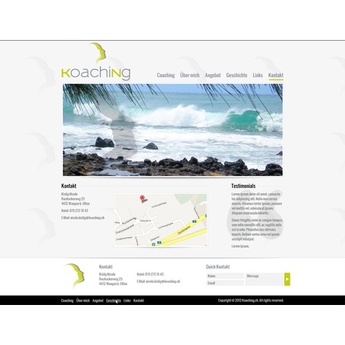 website design for koaching