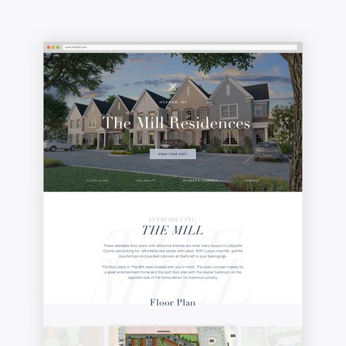 Web design for The Mills