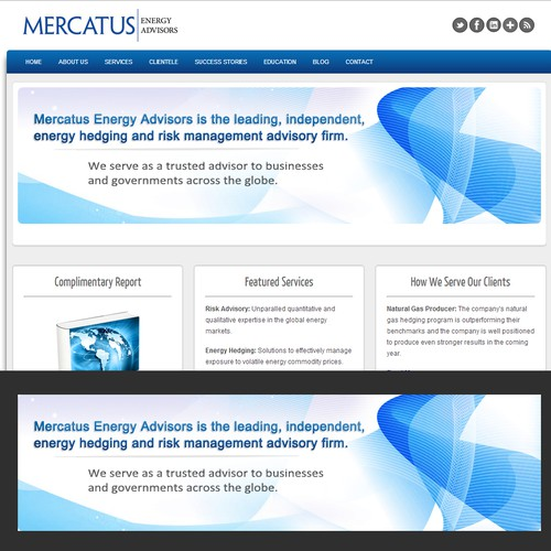 banner ad for Mercatus Energy Advisors