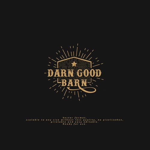 Logo for Darn Good Barn - photography and lifestyle website
