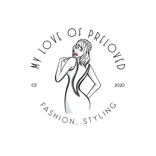 1920s inspired logo for a company that sales clothes