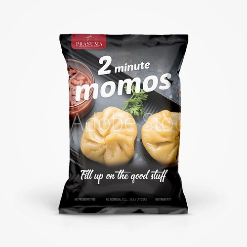 2 Minute Momos Packaging Design