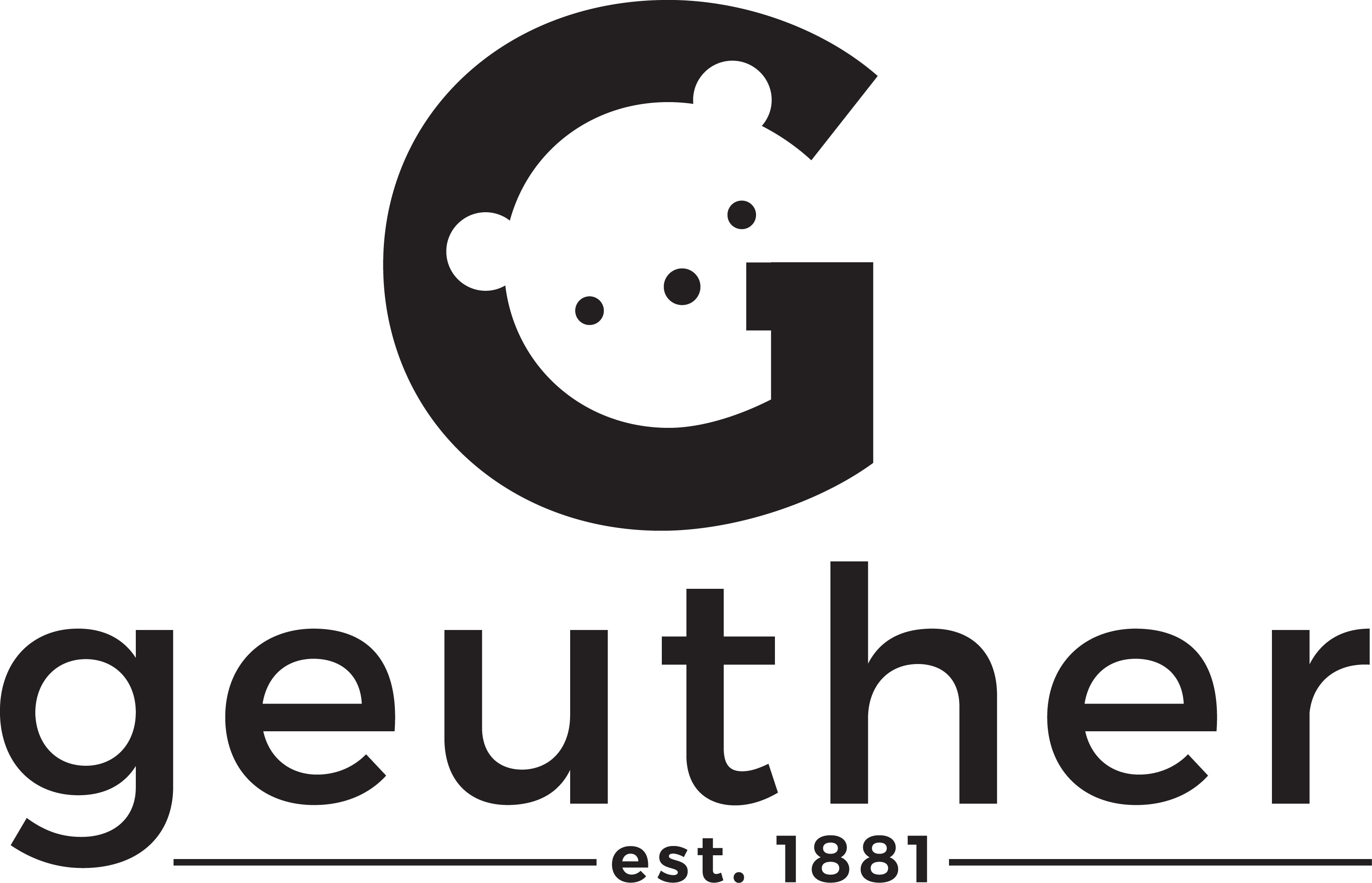 Design a fresh logo for GEUTHER, a kids furniture company.