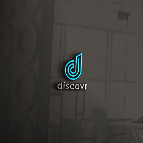 Logo line concept for discovr company, I have made a minimalist and neat design on this concept