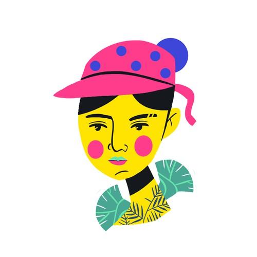 Create a Trendy, Artistic, Gen-Z Women's Illustration For A Major Conference In Denver, CO