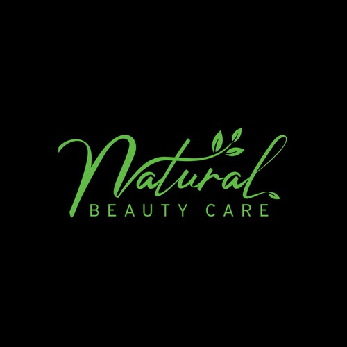 natural beauty product logo and bottle design