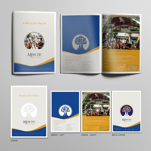 Brochure template for campus