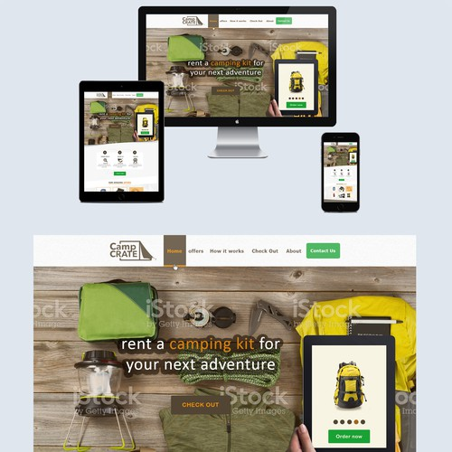 web design for camping