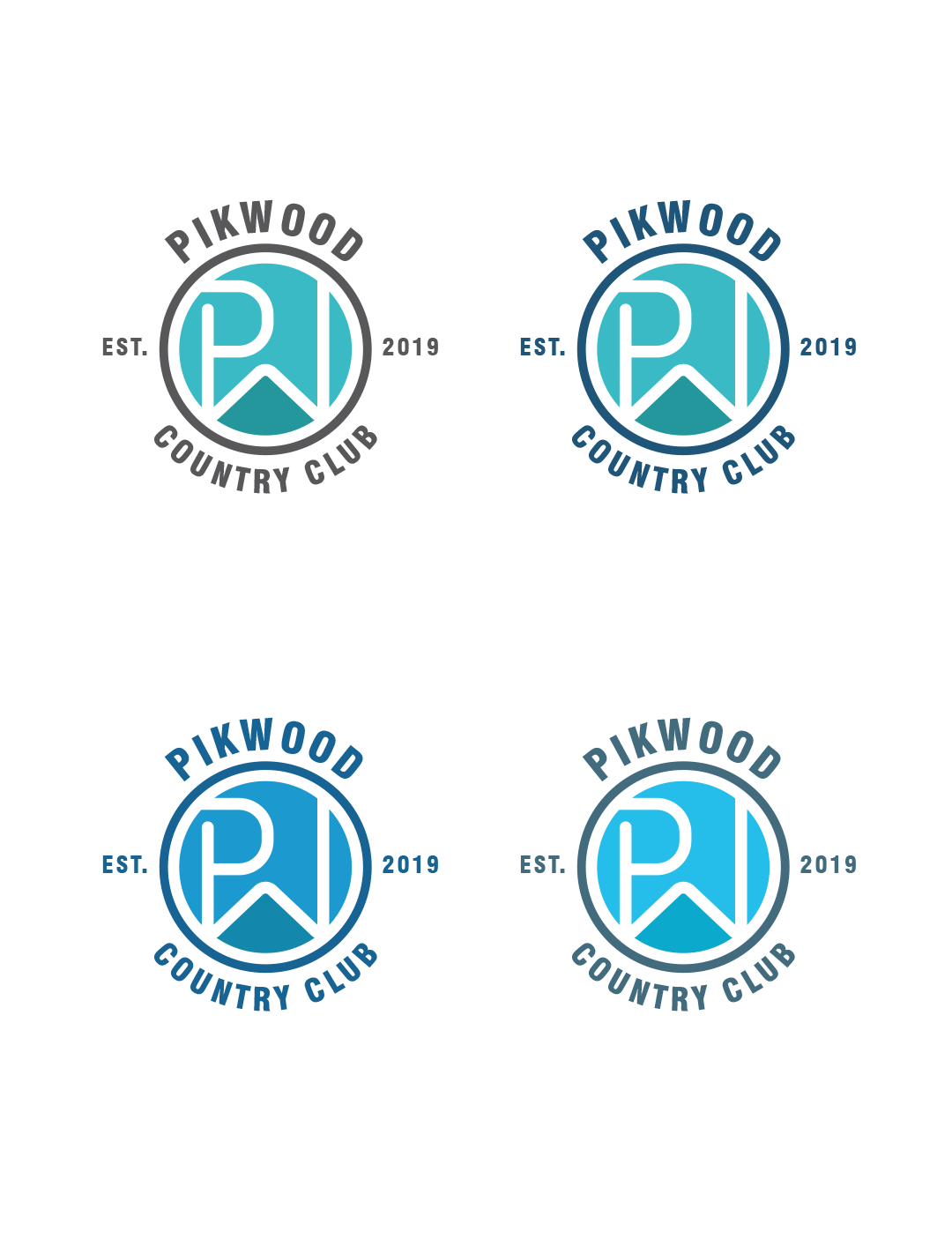 Great logo for owners to give to friends with a river in the middle.  PW initials