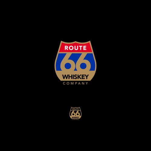 Logo for Route 66 Whiskey Company