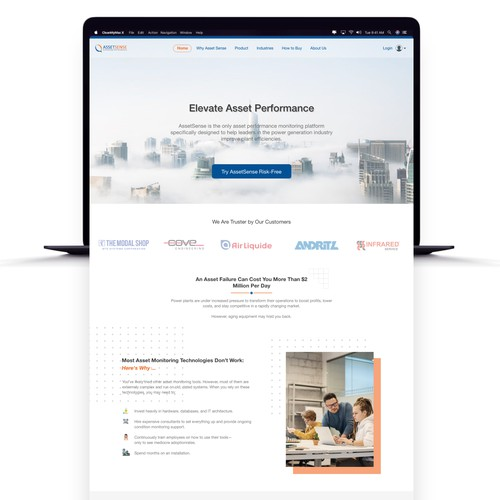 B2B engaging website design