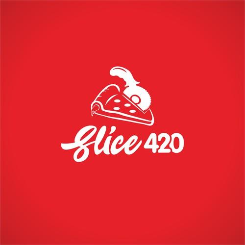 Logo concept pizza 420