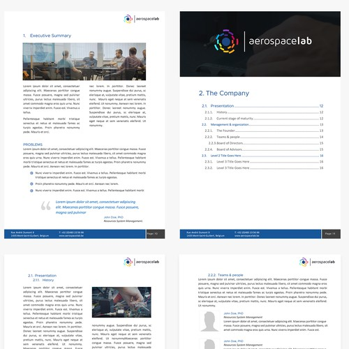 Microsoft Word Template for a Tech Leader Firm