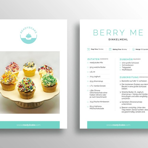 Recipe Card Template for Cupcakes & Cakes